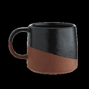 Two Tone Terracotta & Black Mug