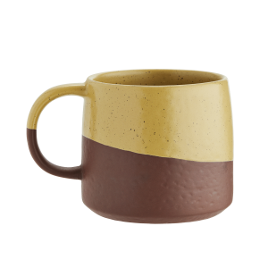Two Tone Terracotta & Yellow Mug