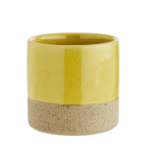 Yellow Top Ceramic Flower Pot