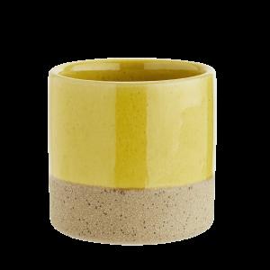 Yellow Top Ceramic Flower Pot