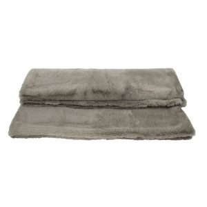 Luxury Taupe Faux Fur Throw Taupe Extra Large