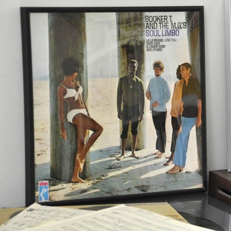 Black Record Cover Frame