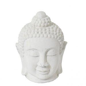 White Buddha Head Statue