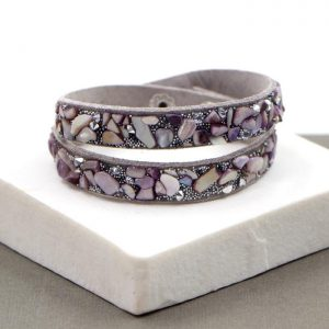 Stones Double Wrap Bracelet