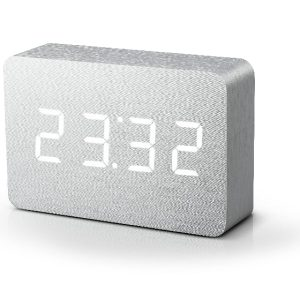 Brick Aluminium Click Clock with White LED