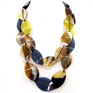 Double Strand Tortoise Shell Necklace