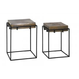 Antique Bronze Side Tables(set of 2)
