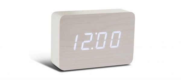Brick White Click Clock with White LED
