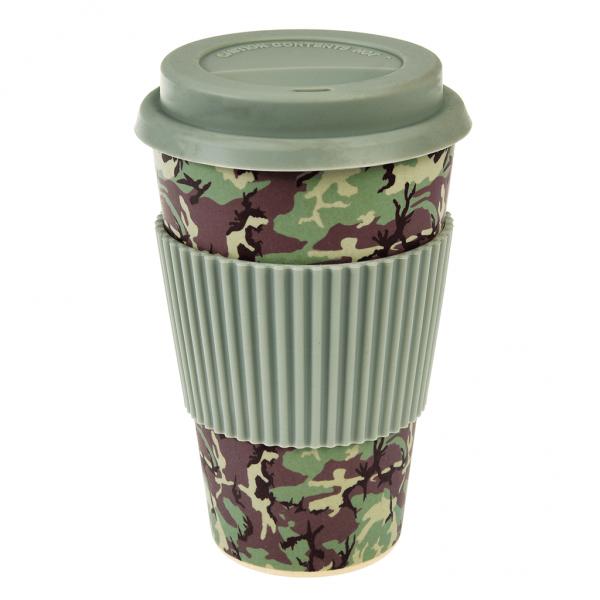 Camouflage Bamboo Travel Mug