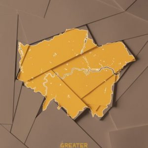 Maps Greater London Golden Print