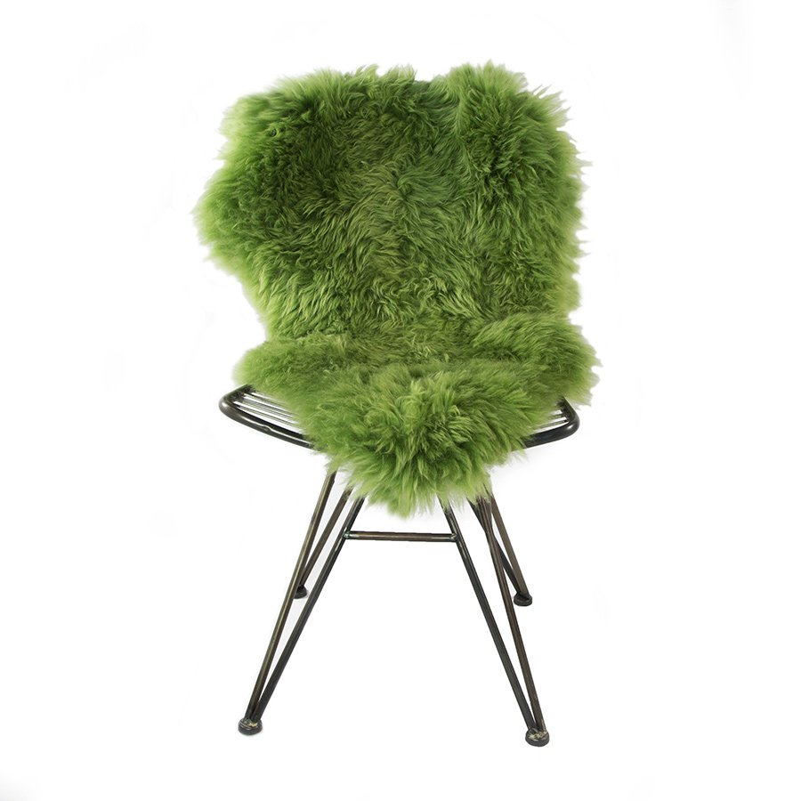 Green Sheepskin Chair