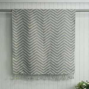 Grey Zig Zag Outdoor Rug