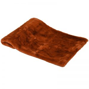 Burnt Amber Fleece Throw