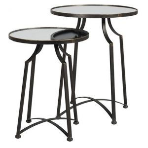 Set of 2 Glass Top Tables