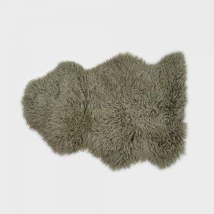 Large Curly Sheepskin Rug Pistachio
