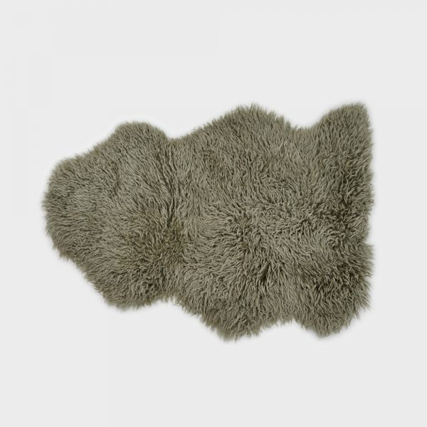 Large Curly Sheepskin Rug Pistachio