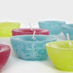 Mixed Set of 3 Colour Floating Candles