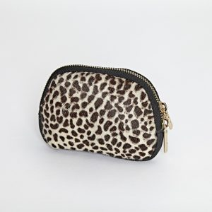 Leather & Leopard Print Hide Coin Purse