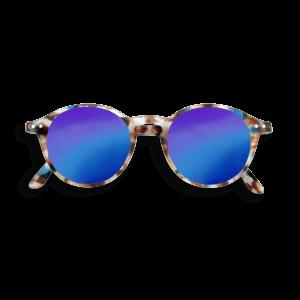 Izipizi #D Sunglasses Blue Tortoise with Blue Mirror Lenses