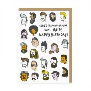 Happy Birthday Greeting Card Hair