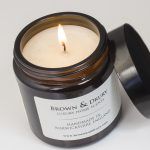 lit candle label