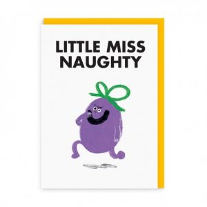 Little Miss Naughty Greeting Card