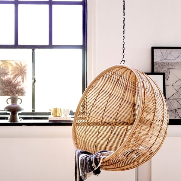 Natural Rattan Hanging Bowl Chair