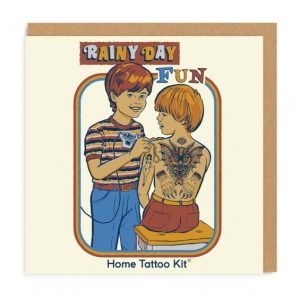 Greeting Card Rainy Day Fun Tattoo Kit