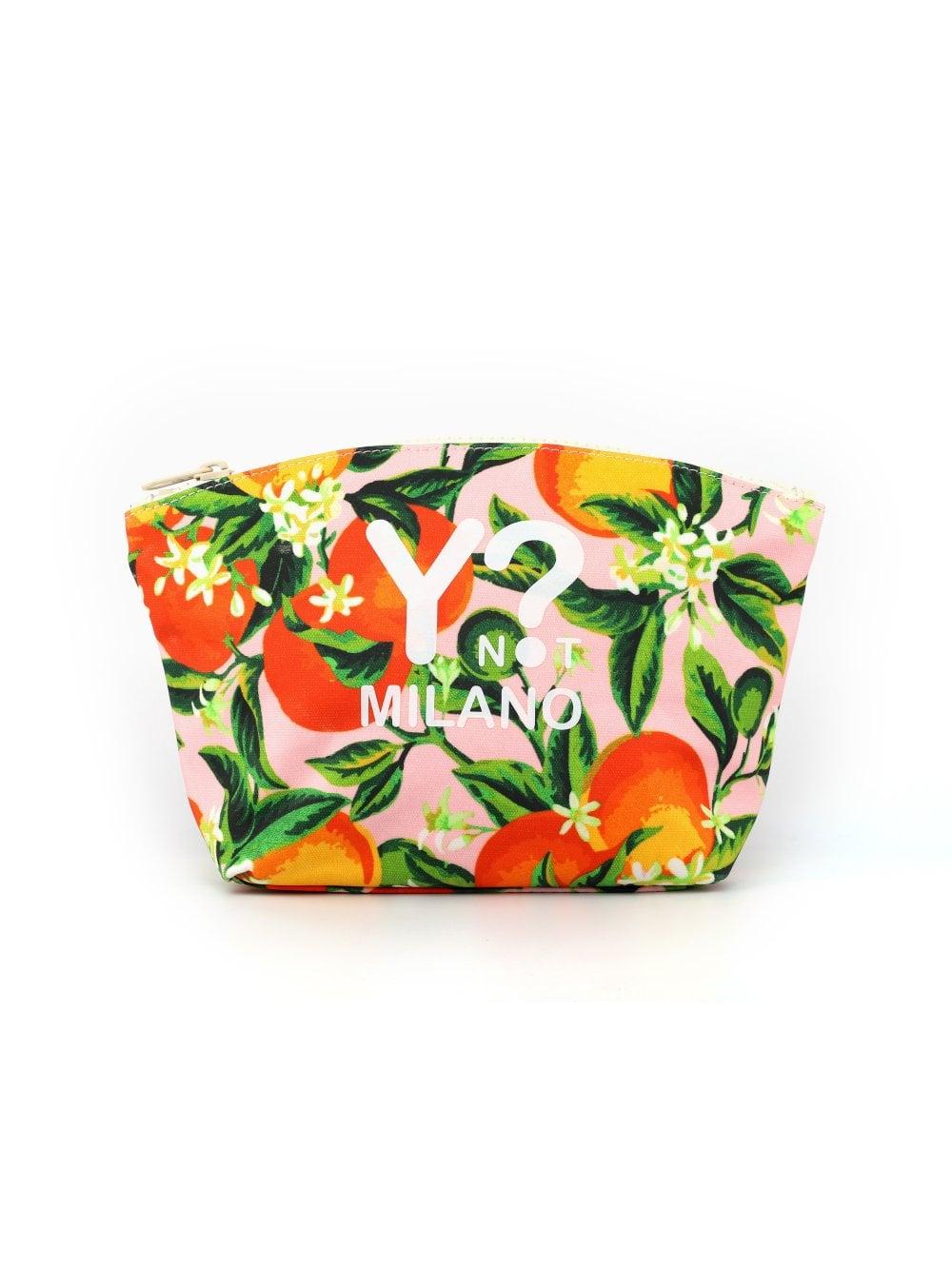 Y Not Orange Beauty Bag