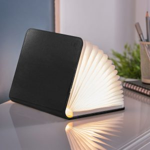 Black Leather LED Smart BookLight