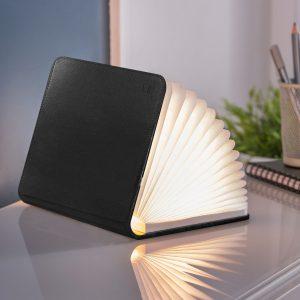 Black Leather LED Smart BookLight