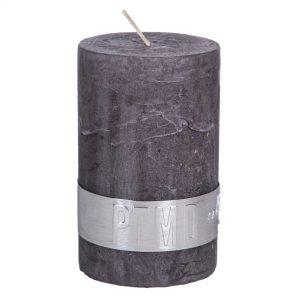 Rustic Swish Grey Pillar Candle 6x4cm
