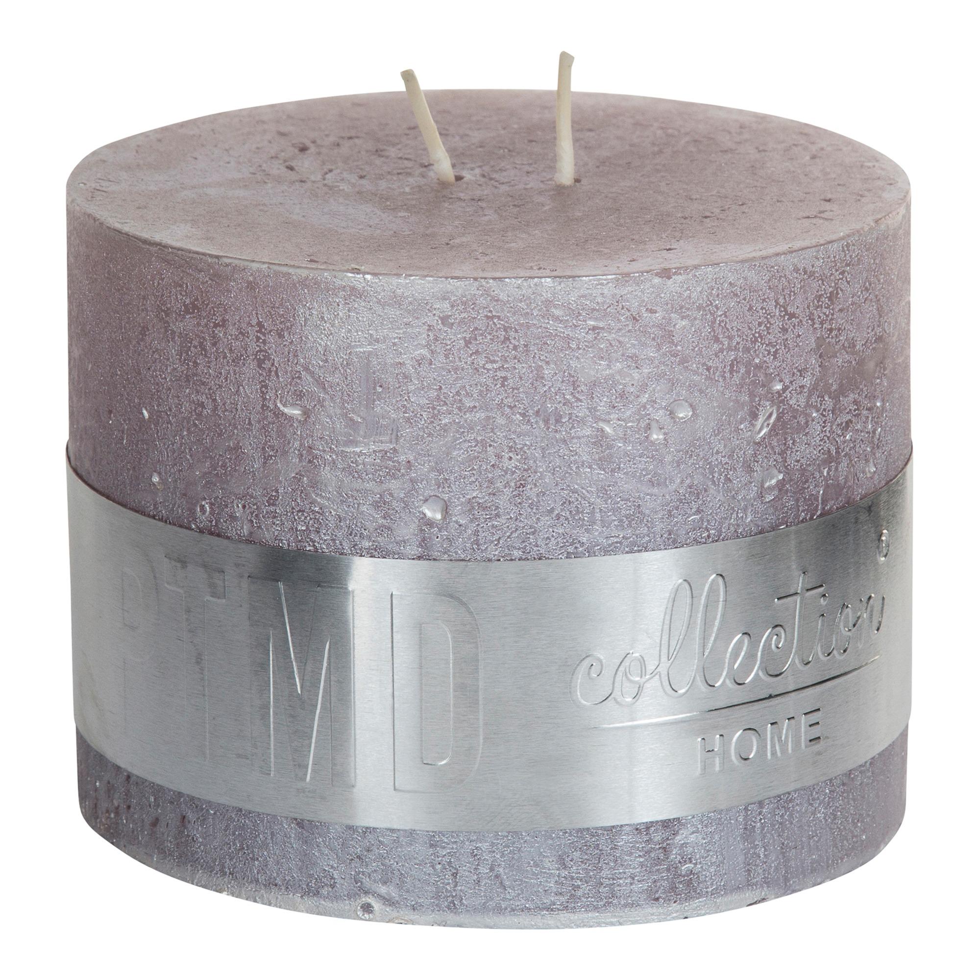 Metallic Soft Pink Block Candle 9x12cm