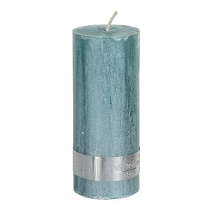 Metallic Mint Green Pillar Candle 12x5cm