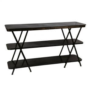 Black Iron 3 Tier Storage Shelf Unit