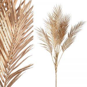 Faux Gold Leaf Palm Plant