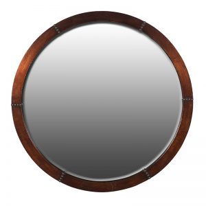 Copper Round Wall Mirror