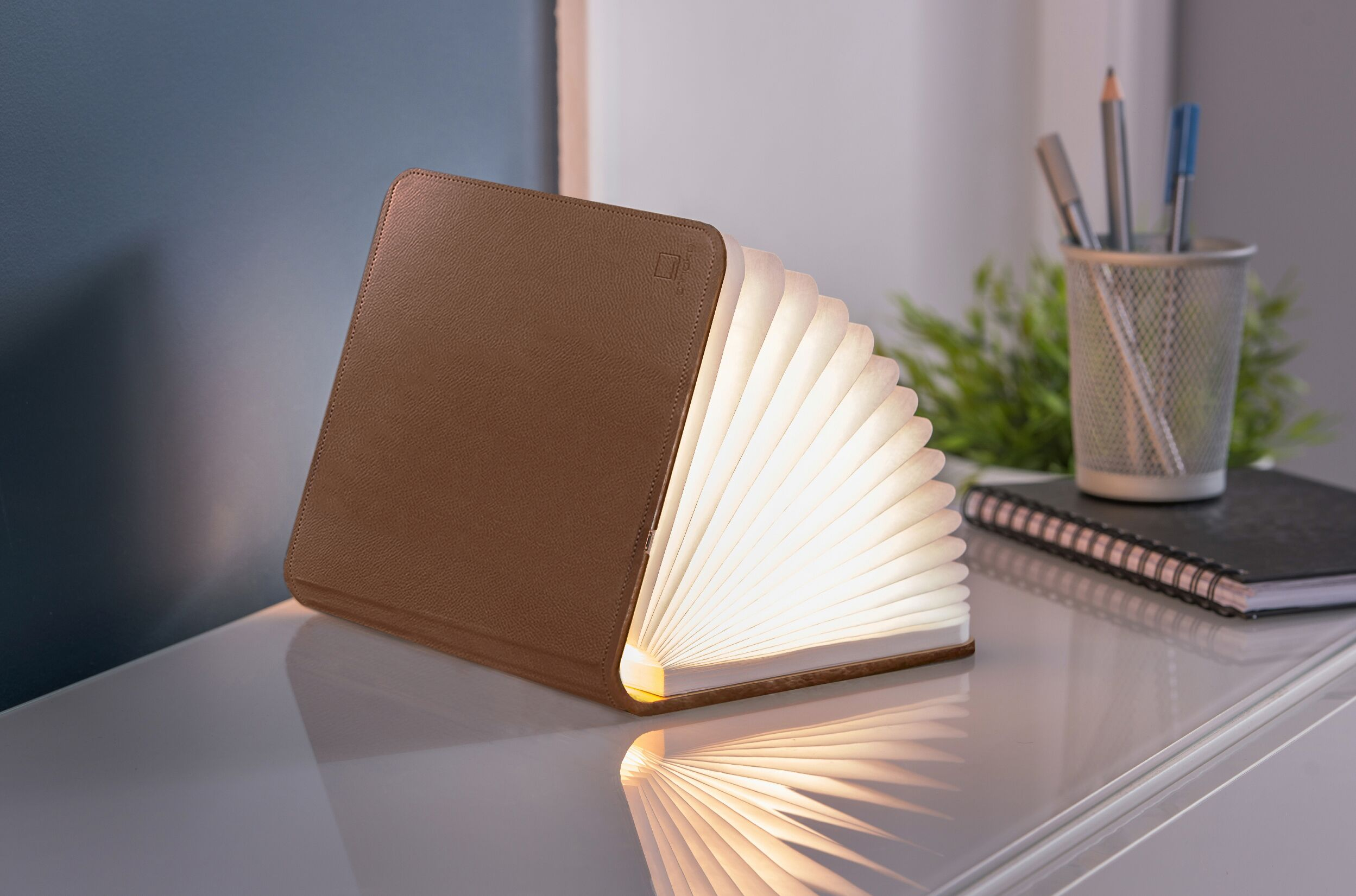 Brown Leather Mini LED Smart Book Light
