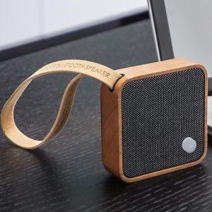 MI Square Cherry Wood Pocket Speaker