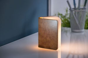 Brown Leather Mini LED Smart Book Light