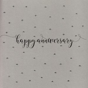 Happy Anniversary Dots Greetings Card