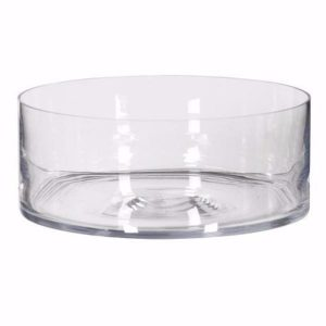 Round Shallow Glass Bowl