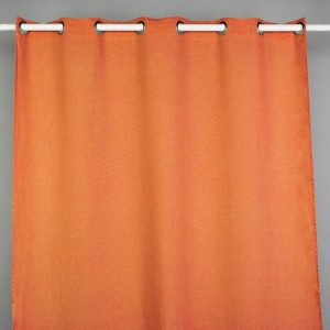 Stonewash Linen Curtain Orange