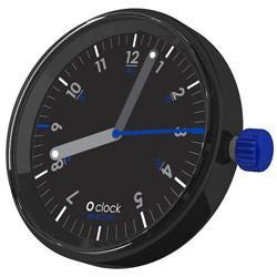 O Clock Face 60 Seconds Blue Black