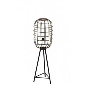 Old Bronze & Matt Black Hurricane Floor Lamp