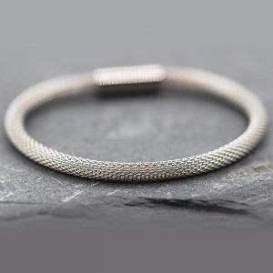 Stainless Steel Rope Style Bracelet