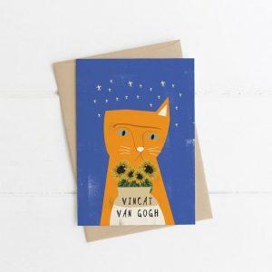 Vincat Van Gogh Greetings Card