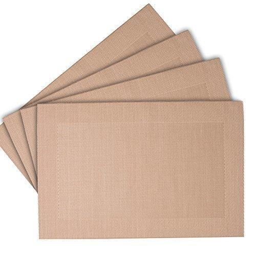 Rectangular Easy Wipe Placemat Taupe