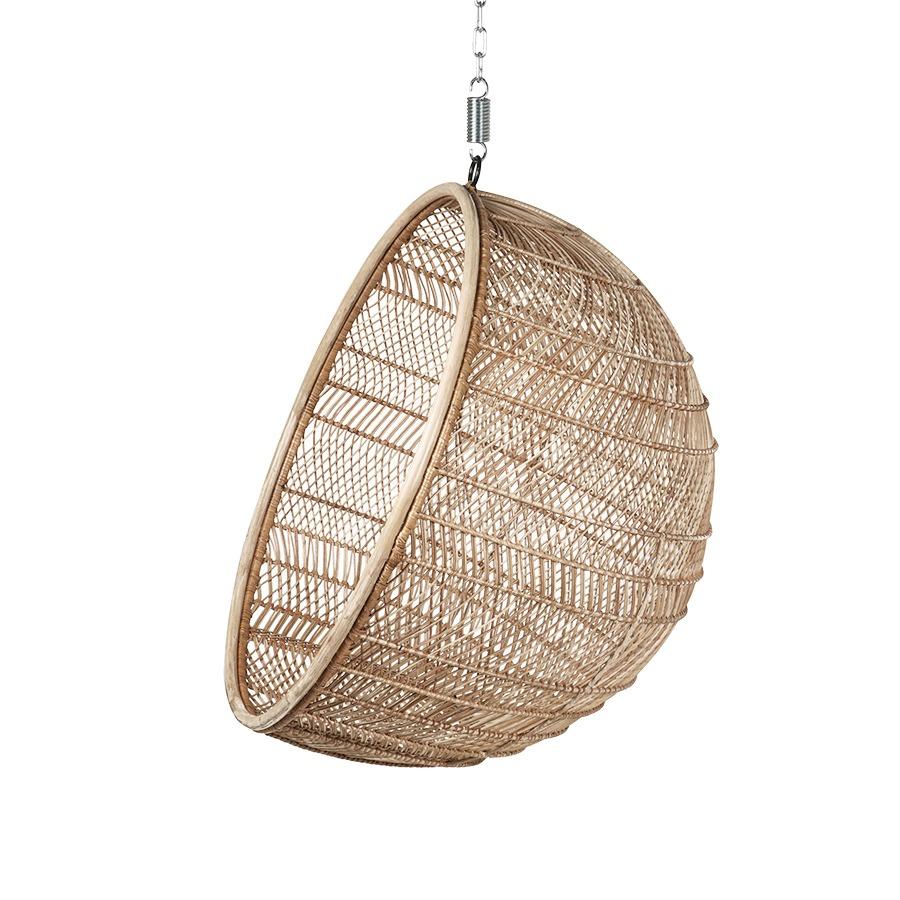 Natural Rattan Hanging Bowl Chair