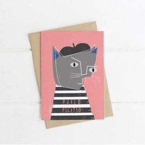 Pablo Picatso Greetings Card